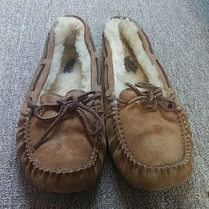 UGG moccasin brown slippers